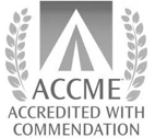 ACCME Accredited with Commendation Logo