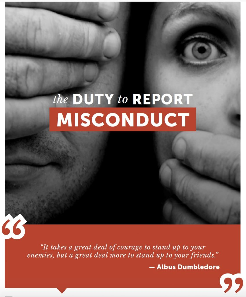 The duty to Report Misconduct