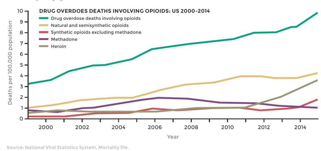 a chart ... drug overdose deaths due to opioids