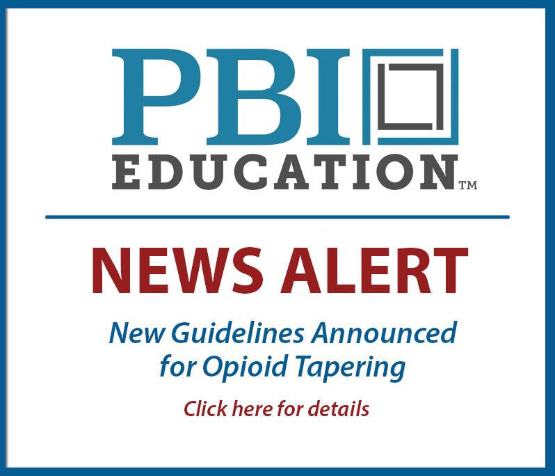 New Alert Banner - Opioid Tapering